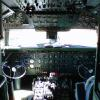 Old School airline cockpit. The good ol days