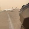 In ME as a sand storm hits